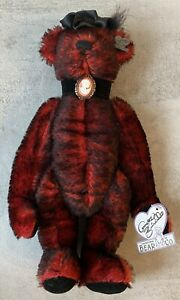 RARE Color Red & Black Annette Funicello Mohair Bear Roaring 20's Style