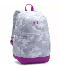 NEW-Under Armour Girls' UA Favorite Backpack, White(100)/Purple Rave, One Size