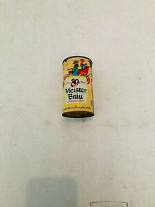 VINTAGE MEISTER BRAU PILSENER FIESTA PACK FLAT TOP BEER CAN PETER HAND CHICAGO