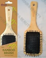 Annie 100 Hand Crafted Bamboo Square Paddle Cushion Hair Brush Water &oil Proof