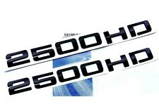 2x OEM Black 2500HD Nameplates EMBLEMS Badges Silverado Sierra Front rear 2FU