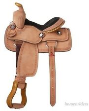 -10-inch-western-saddle-roughout-leather-barbwire-tooledrawhide-laced-cantle