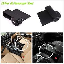 2 X Car Driver & Passenger Seats Catcher Gap Filler Storage Box Leakproof Device