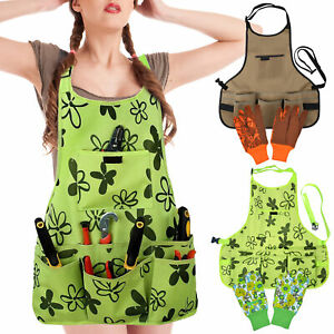 Durable Good Craftsman Garden Apron Oxford with Pockets for Women and Men Golves