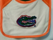 Florida Gators Bib for Baby Soft White Terry Cloth Velcro Back FREE SHIPPING!