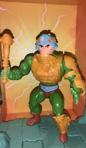 man at arms 8 back (red dot variant) masters of the universe 100% complete
