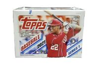 2021 Topps Baseball Series 1 SEALED BLASTER BOX 7 Packs RC Patch Anniversary