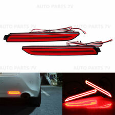 2x Rear Bumper Reflector Light LED Lens Brake for Toyota Camry Reiz Sienna Venza