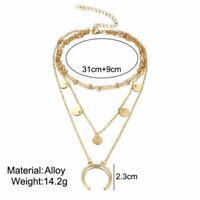Women Charm Jewelry Choker Chunky Statement Bib Fashion Pendant Necklace Chain