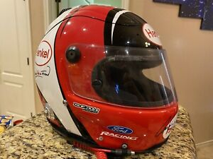 Carl Edwards Autographed Race Used 2006 NASCAR Henkel Helmet