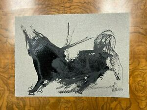 Gino Hollander Authentic Original BULL Sketch - Hollander Family Archive - RARE!