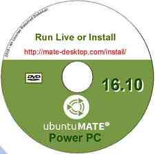 Ubuntu Mate 16.10 Linux O/S Power PC Desktop Live/Install DVD + LibreOffice