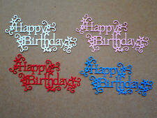 'Happy Birthday' Paper Die Cuts  x 2 Sets Scrapbooking Card Topper Embellishment