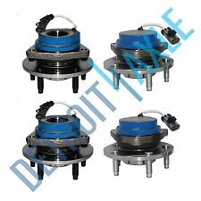 New Set All (4) Front and Rear Wheel Hubs and Bearings for Cadillac 2WD w/ ABS