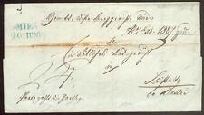 Austria 1844 vorphilabrief de Mies a Leipzig Sajonia (d0884