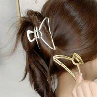Women Sweet Faux Pearl Metal Large Metal Alloy Grabbing Clip Hair Clip Hairband