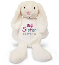 Personalised Big Sister & Your Name Large Bunny Rabbit Embroidered Teddy Bear