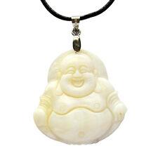 Natural Sea Shell Tibet Buddhist Laughing Buddha Amulet Pendant