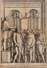 Bartolus Sanctus. romana allegorien (REX PARTHIS DATVS). ORIGIG. per rame 1700