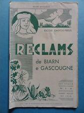 Reclams Béarn Gascogne N° 7-8 1958 Adour Andrèu Pic Lourde Saint-Bézard Tucat