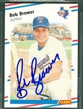 Bob Brower Baseball Auto 1988 Fleer '88 Signature Autograph Signed Card #461