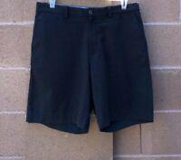 Tommy Bahama Boracay 8-Inch Chino Shorts Men's Size 35 Zip Fly Dyed Black