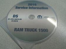2016 Dodge RAM TRUCK 1500 Service Shop Repair Workshop Manual CD DVD NEW