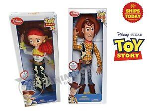 Disney Pixar Toy Story 4 WOODY & JESSIE TALKING ACTION FIGURES 2020 Store LOT 2