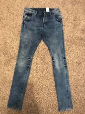 H&M Skinny Low Waist Stretch Buttons Fly Jeans Size 28/32