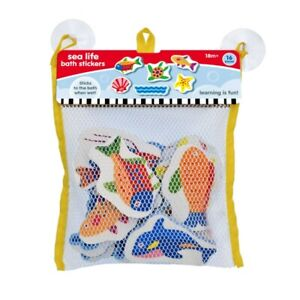 KandyToys 16 Piece Sea Animals Vehicle Bath Toys in Hanging Bag
