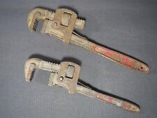 Lot 2 anciennes clés à molette vintage Drop forged outils déco garage atelier