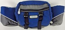 """OUTDOOR PRODUCTS Water Bottle Hiking Waist Pack 10"""" BLUE/GRAY Adjustable Strap"""