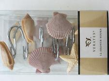 Veratex * Shower Curtain Hooks * Beach Shells * New