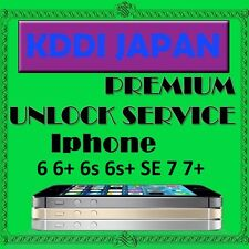 Japan AU KDDI Premium Official Unlock Service iPhone 6 6+ 6s 6s+ SE 7 7+