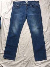 Roxy W32 L30 32 30 Mid Blue Denim Jeans Straight Leg Slim Used Vgc Bargain