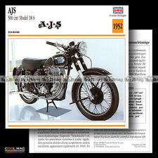 #078.04 AJS 500 MODEL 18 S 1952 Classic Bike Fiche Moto Motorcycle Card