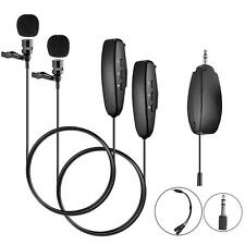 Dual Wireless Lavaliere Lapel Microphone System for iPhone PC DSLR Video Camera