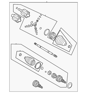 Genuine GM Axle Assembly 23191340
