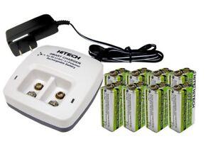 8pcs 9v LiPoly 720mAh TOP(power NiMh 3 times)+ic-29v(2bank) Li Charger*30%OFF