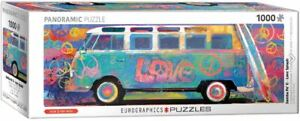 VW Bus Love bus Samba Pa'ti Panoramic 1000 piece jigsaw puzzle 960mm x 320mm