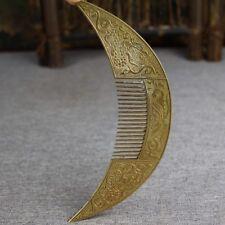 Antiques China handmade antique bronze Phoenix comb Statues Figurines Statues