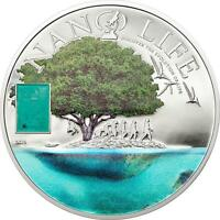 Cook Islands 2015 $10 Nano Life The Evolution Nano Chip Proof 50g Silver Coin