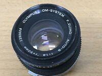 Olympus OM Series G Zukio Auto-S f1.8 50mm Lens