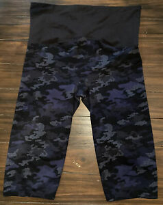 Spanx Brand Black Yoga Exercise Cropped Leggings Size 1X Sz 1X
