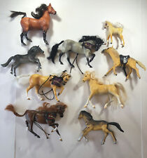 9- Vintage Breyer Reeves and Other Brands Horse Stallions Plastic Figurines Read