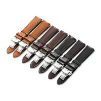 16-24mm Genuine Calf Leather Watch Band Quick Release Dep Clasp Strap For Tissot