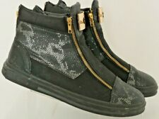 Encore by Fiesso F12210 Leather Gold Zip Up Ankle Mens US13 Casual High Top