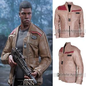 Star Wars The Force Awakens Finn John Boyega Mens Leather Jacket - All Sizes
