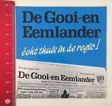 Aufkleber/Sticker: De Gooi-En Eemlander - Écht Thuis In De Regio (19051667)