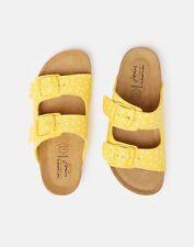 Joules Womens Penley Printed Slider Sandal - LEMON PIPS